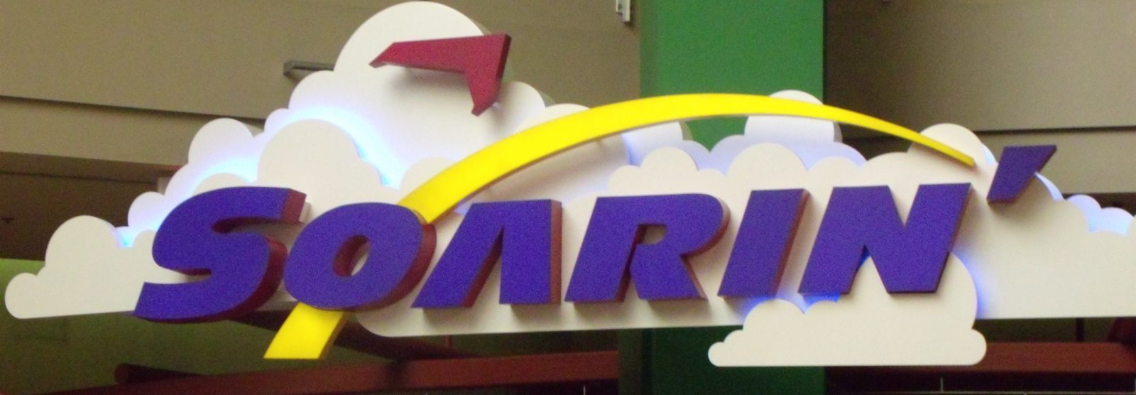sign for Soarin' ride