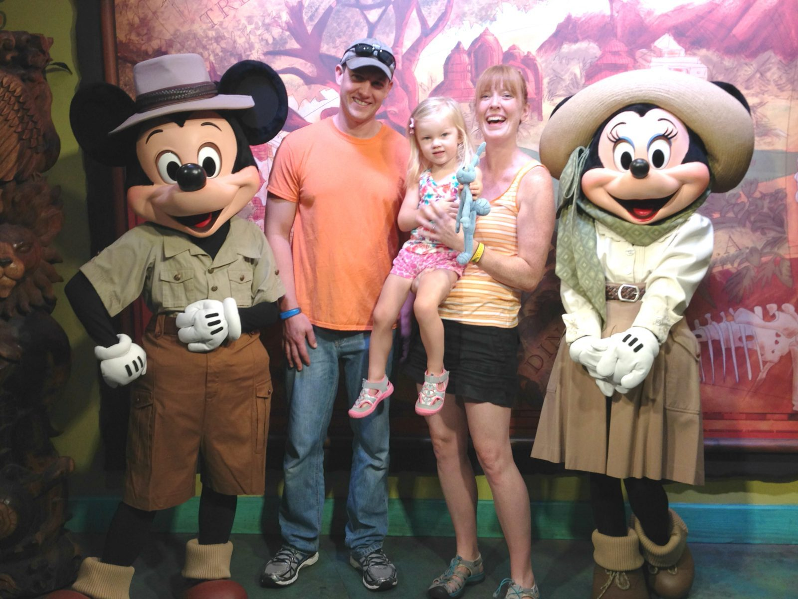 family meeting mickey and minnie mouse