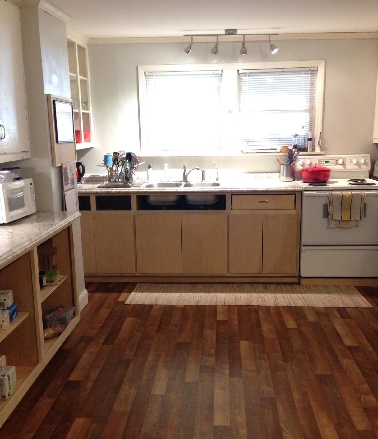 kitchen being put back together