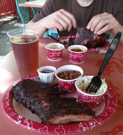 BBQ rib plate