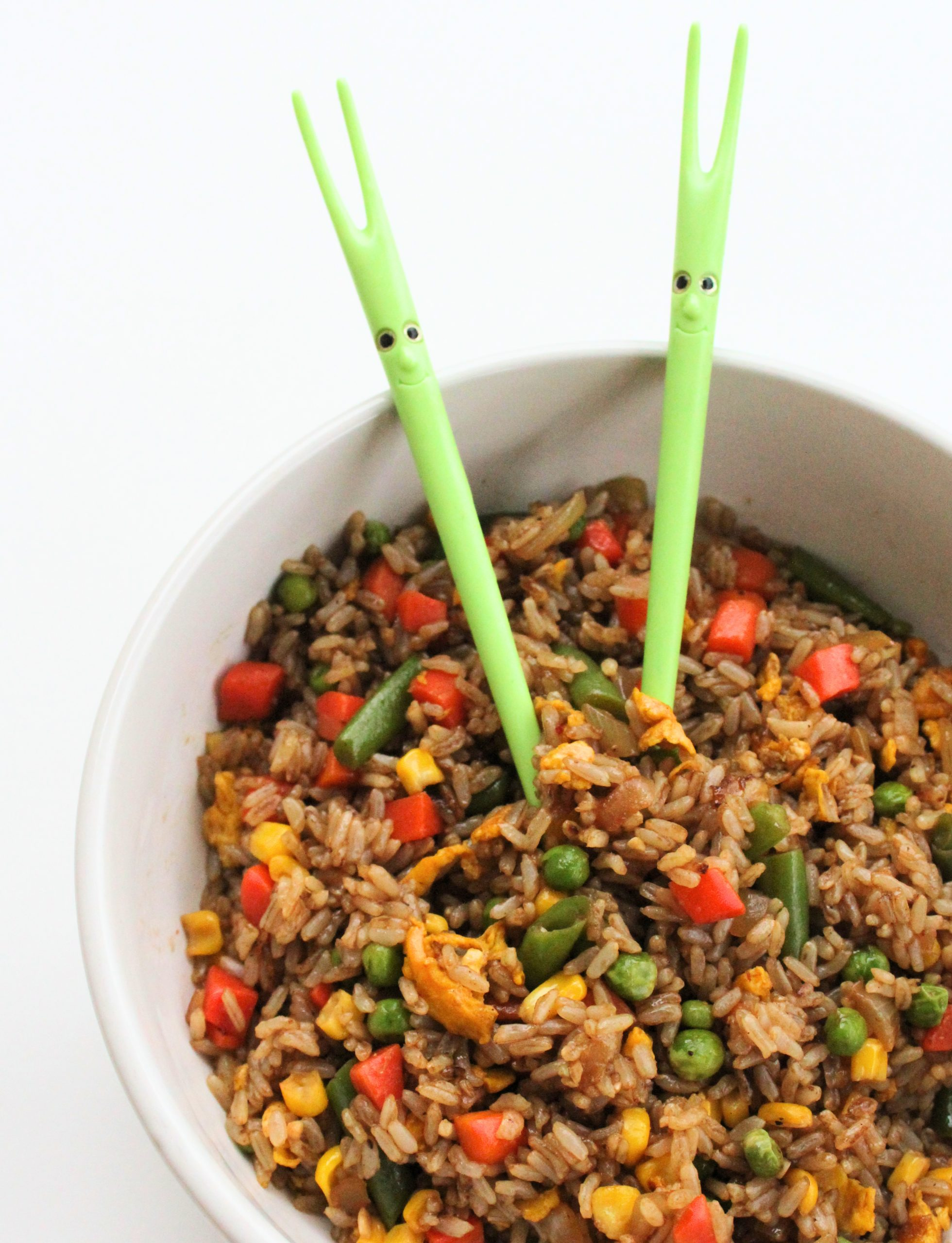 homemade veggie fried rice