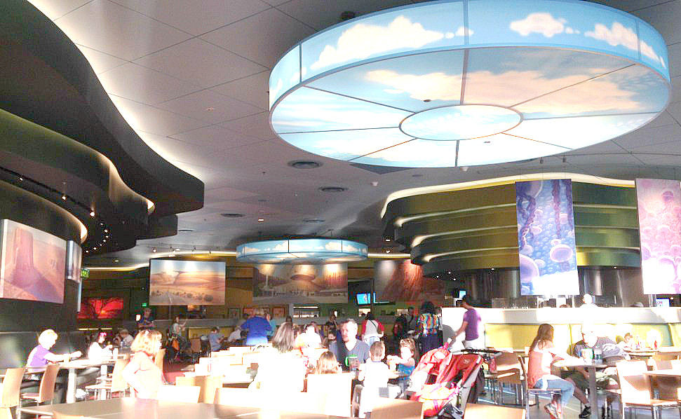 Landscape of Flavors food court at Art of Animation Resort