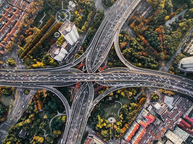 ariel view of interstate