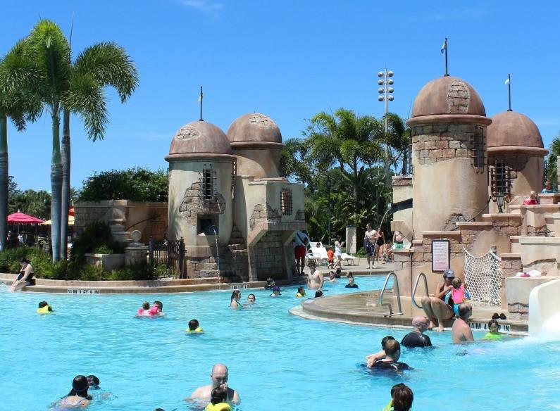 main pool complex at Disney's Caribbean Beach Resort