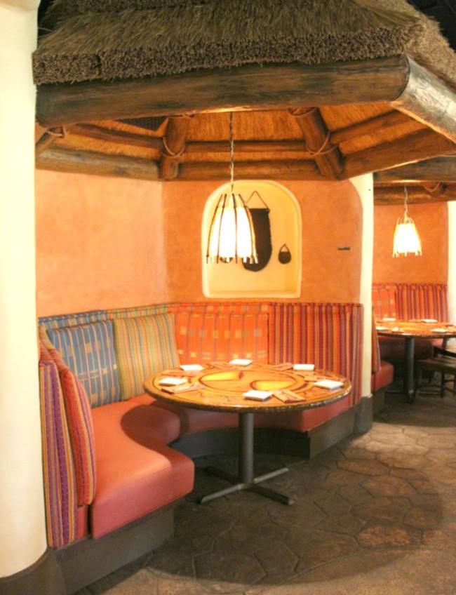 Sanaa restaurant interior - disney world free dining 2020