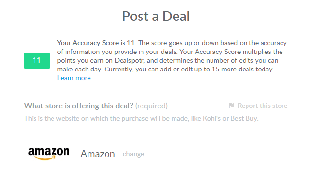 post a deal on dealspotr