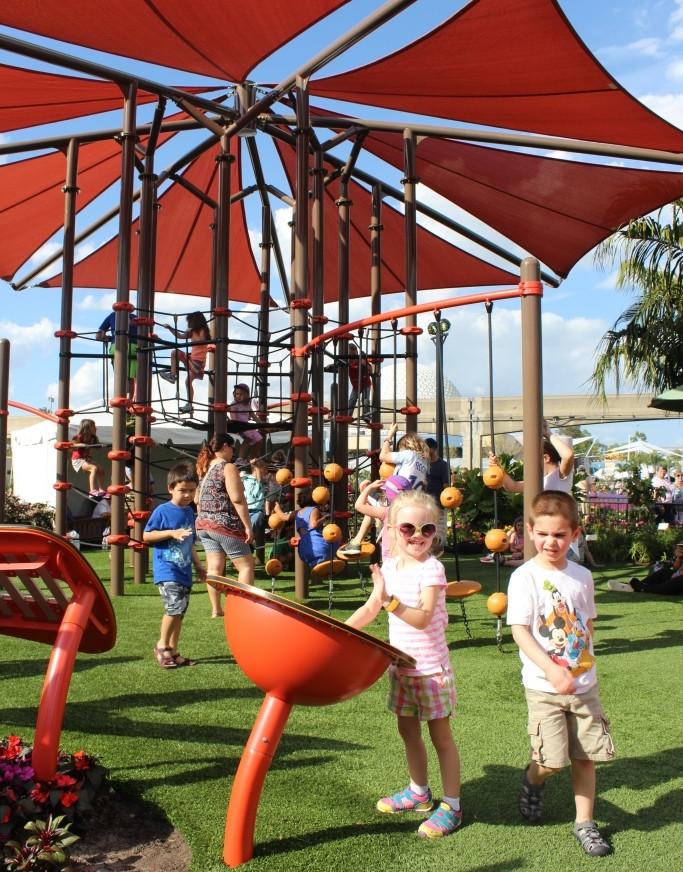 girl at epcot playground