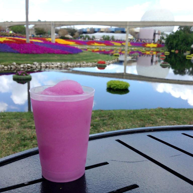 violet lemonade at epcot flower and garden festival