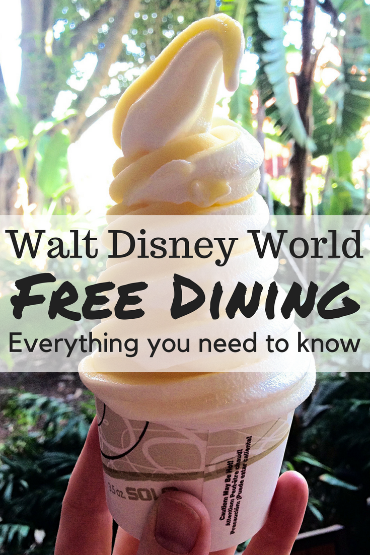 Everything you need to know about the popular Free Dining Plan offer at Walt Disney World! #disneyworld #freedining #disneydining