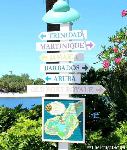 resort direction signage