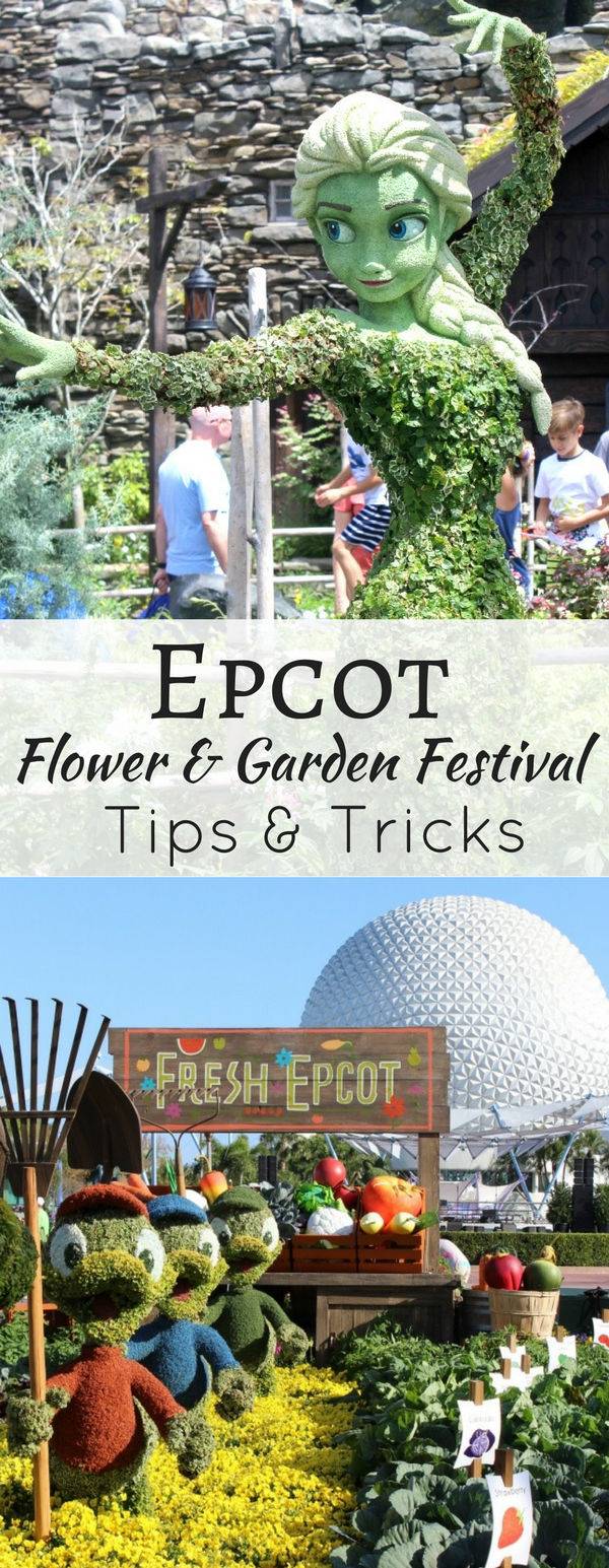 Tips for visiting the popular Epcot Flower and Garden Festival with kids! #disneyworld #familytravel