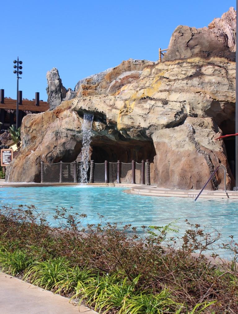 waterfall and resort pool