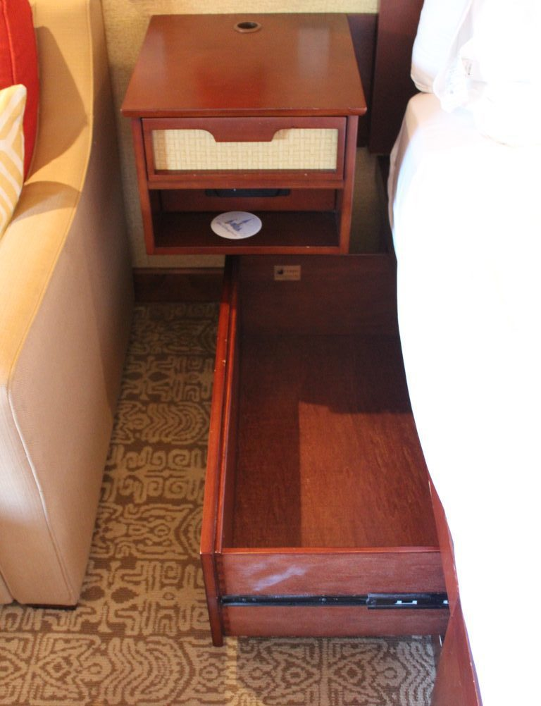 drawers built in to the bed frame