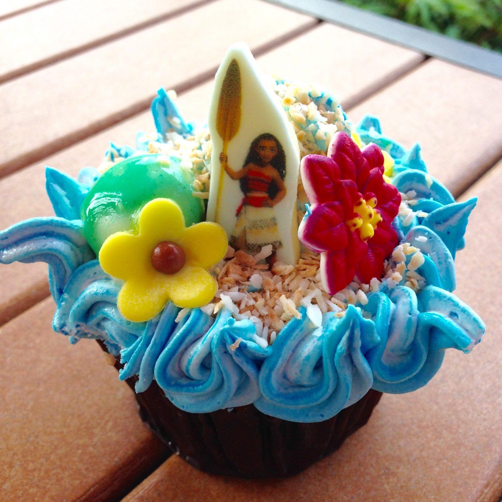 Moana Cupcake