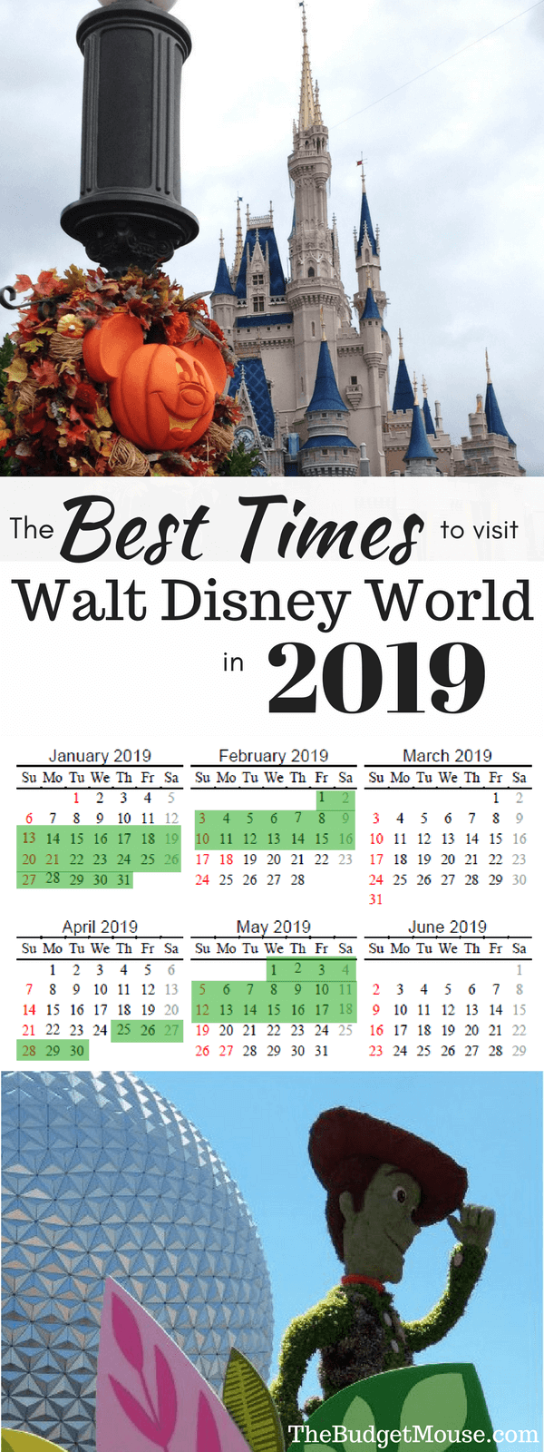 The Best Time To Go To Disney World Printable 2018 2019 Calendar The Frugal South