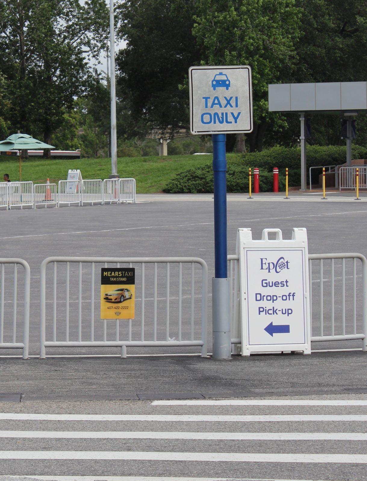 taxi sign at Epcot