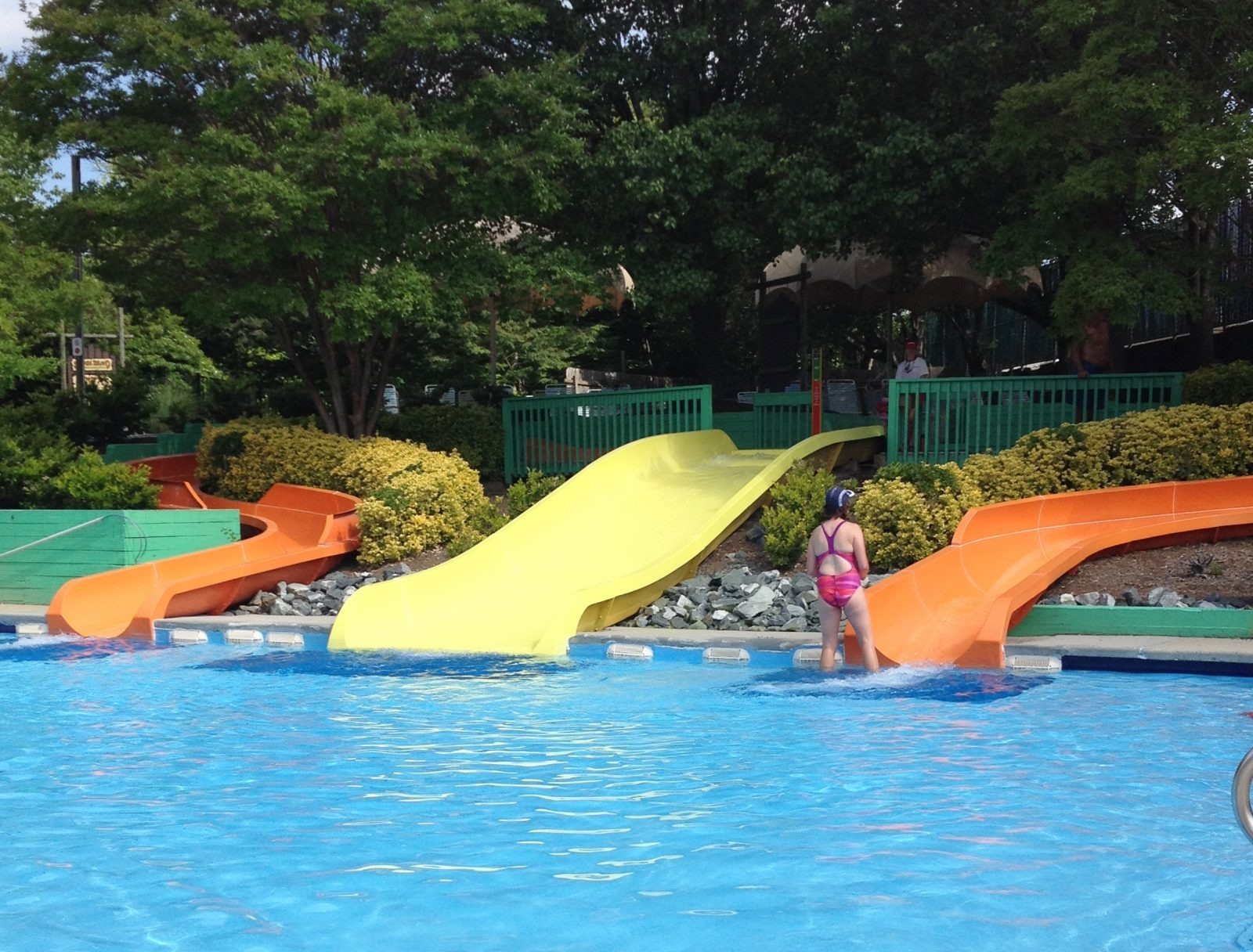 three water slides