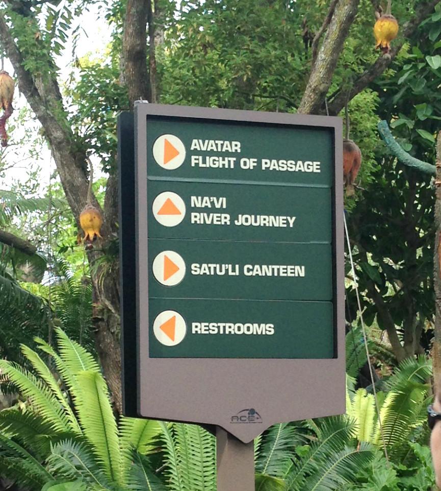 pandora avatar land directional sign