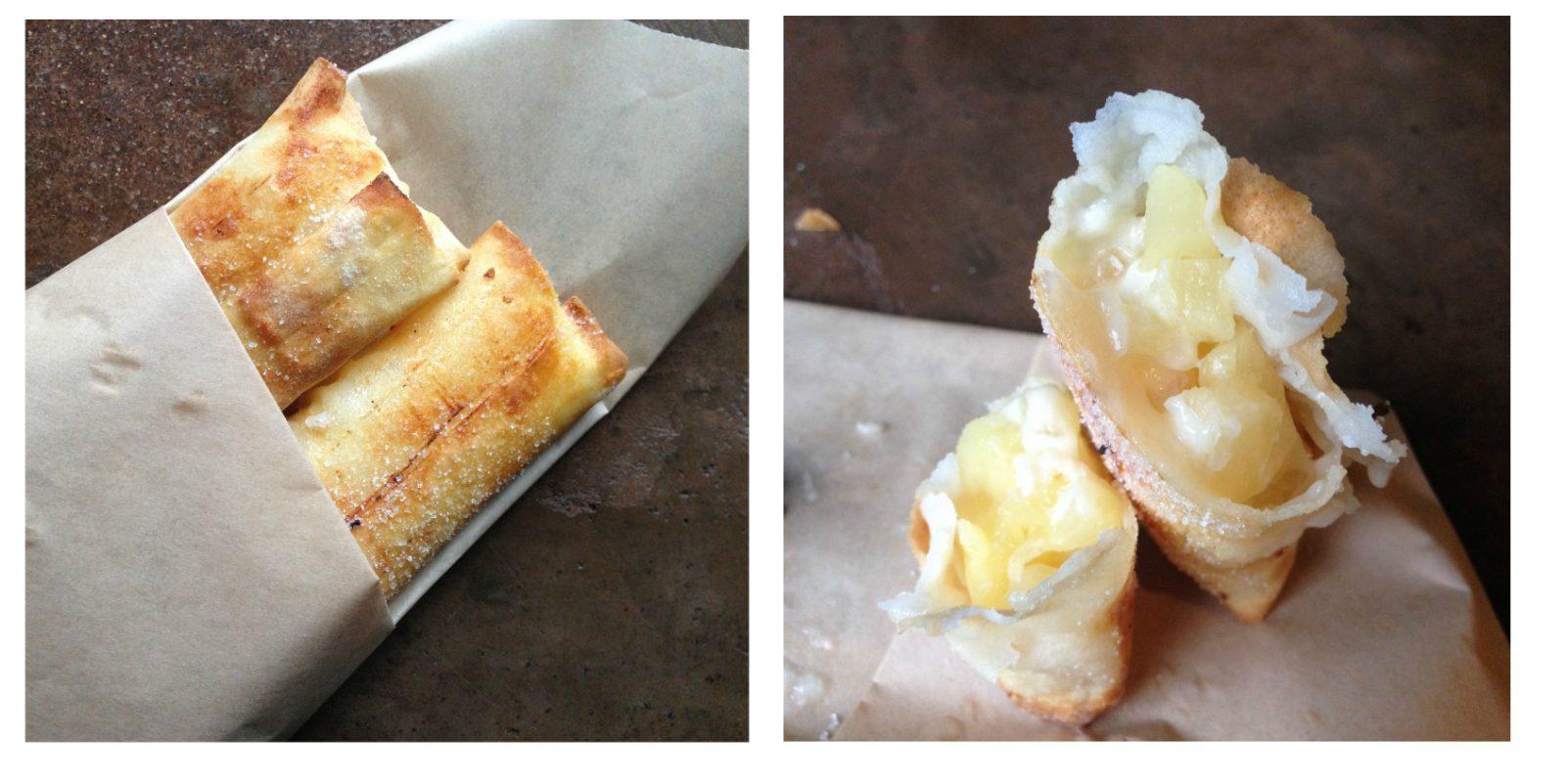 Pongu Lumpia (pineapple cream cheese spring rolls)