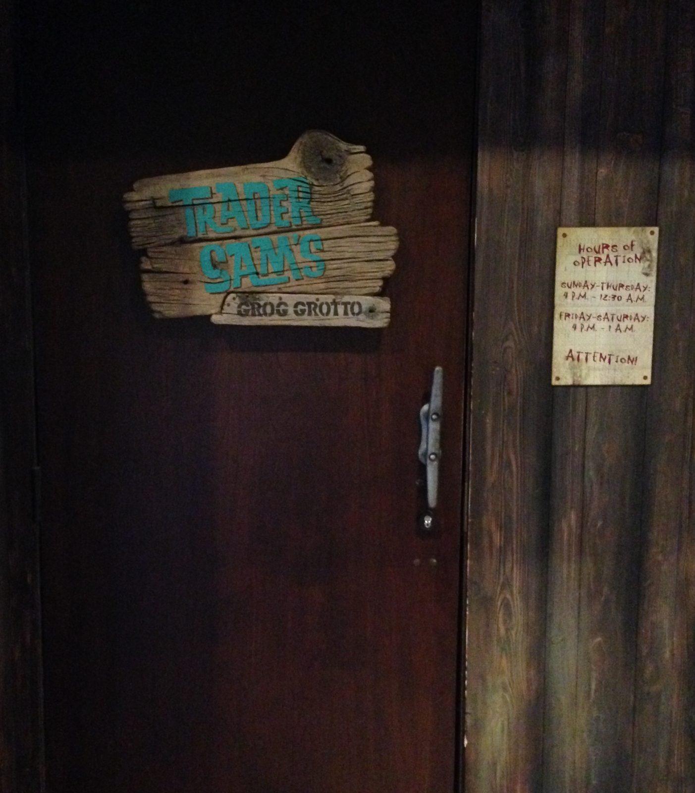 Trader Sam's Entrance