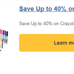Amazon: Save Up To 40% on Crayola (Today Only!)