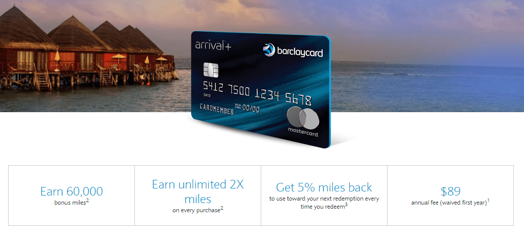 Barclaycard Arrival Plus World Elite Mastercard Promotion