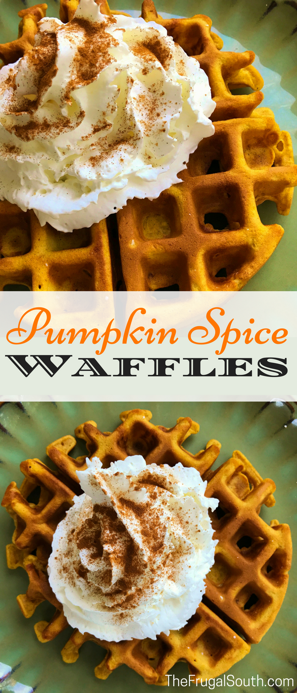 Quick and easy pumpkin spice waffles to satisfy your fall pumpkin cravings! Made from scratch with buttermilk or any other milk you have on hand.