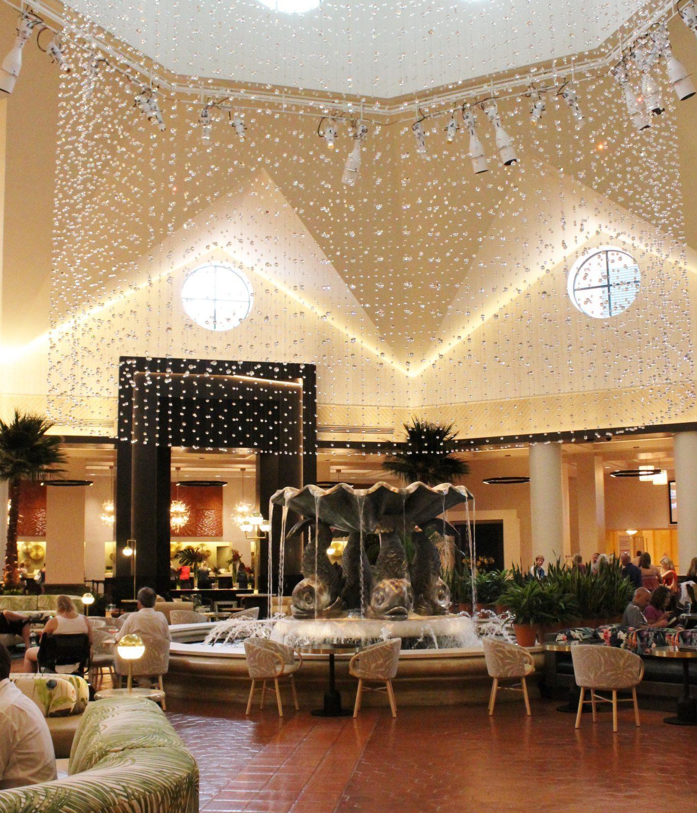 fountain in lobby area