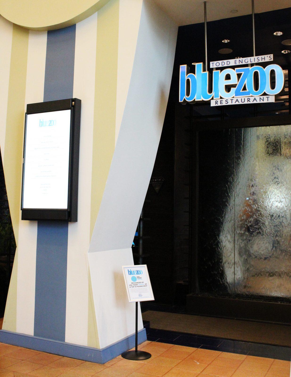 Blue Zoo Restaurant entrance