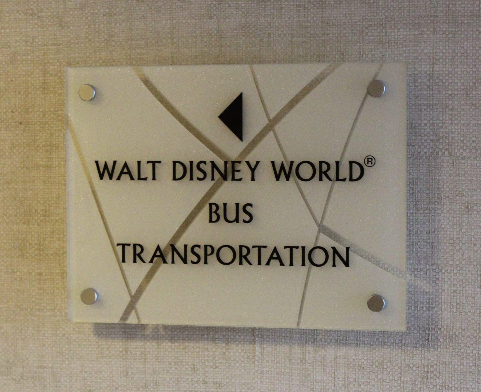 Walt Disney World Bus Transportation Directional Sign