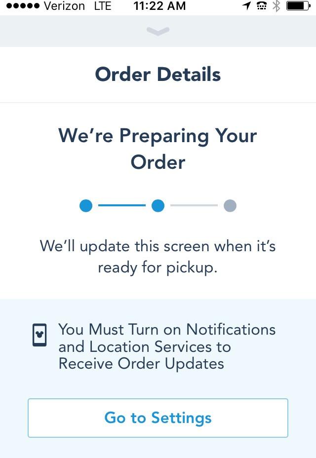 preparing mobile order screen