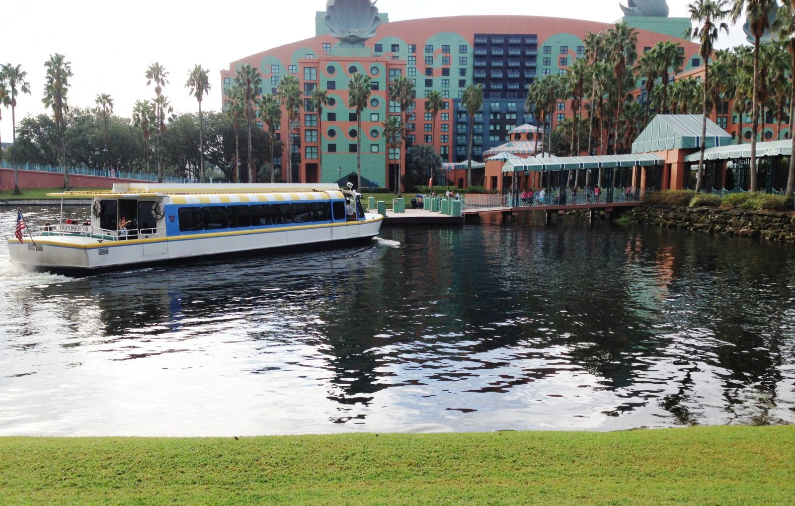 Friendship boat at Swan and Dolphin Resort Dock