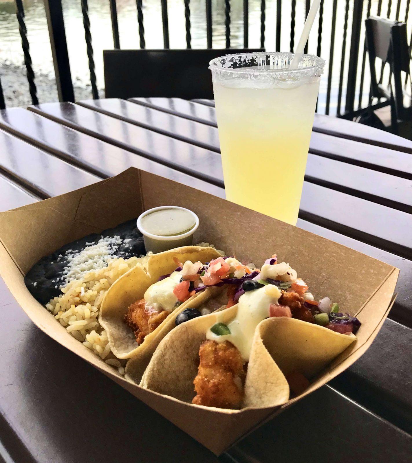 tacos and margarita at disney