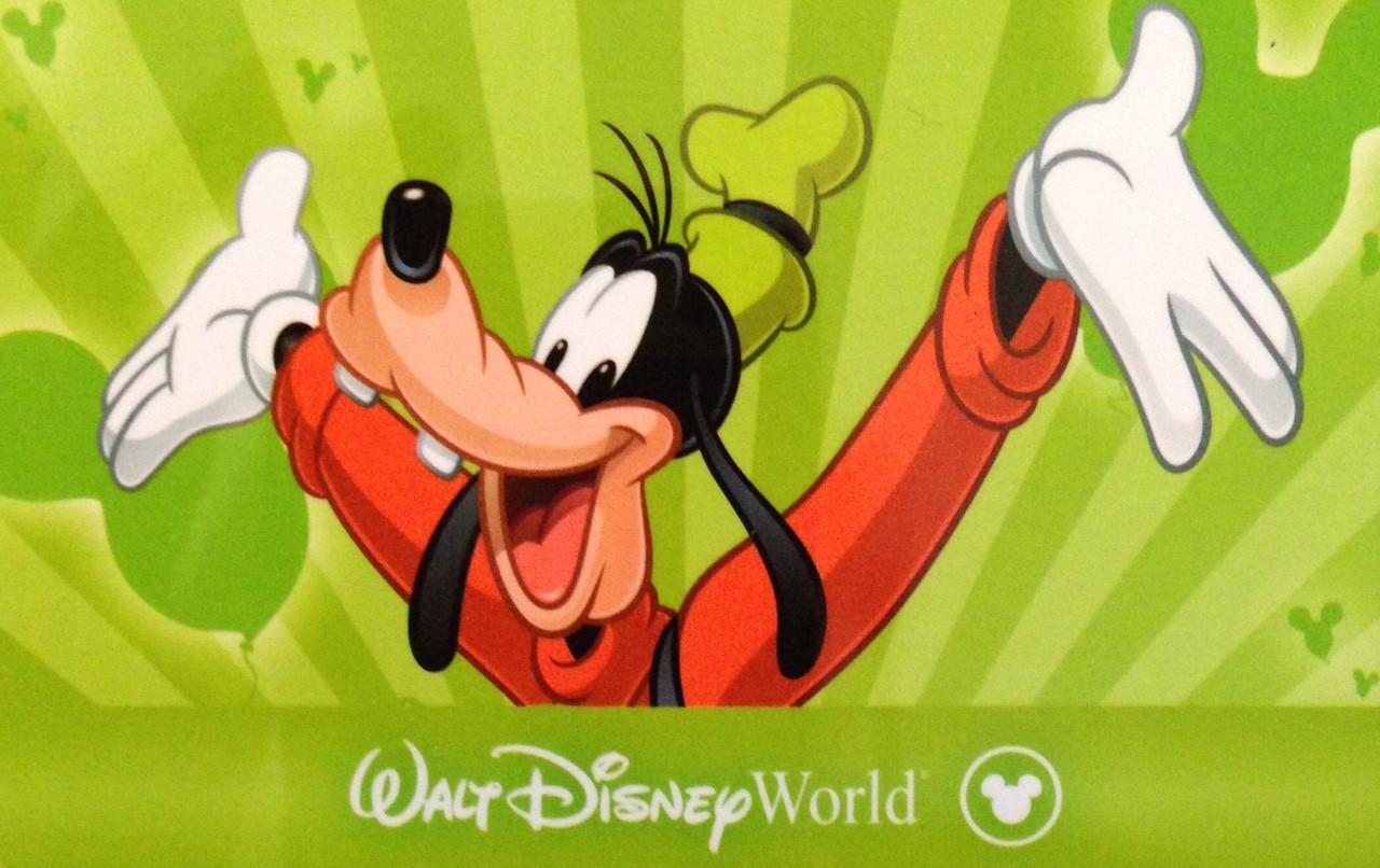 goofy on a disney world ticket