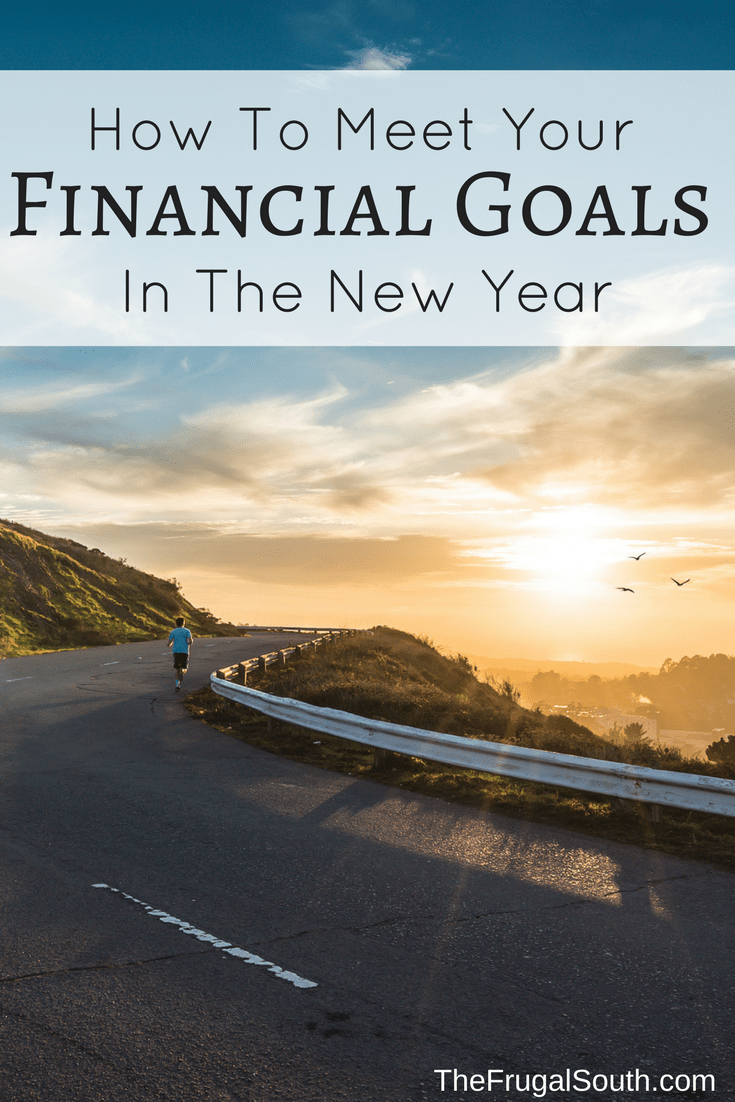 how to meet your financial goals in the new year pinterest image