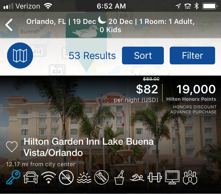 hilton hotel search results