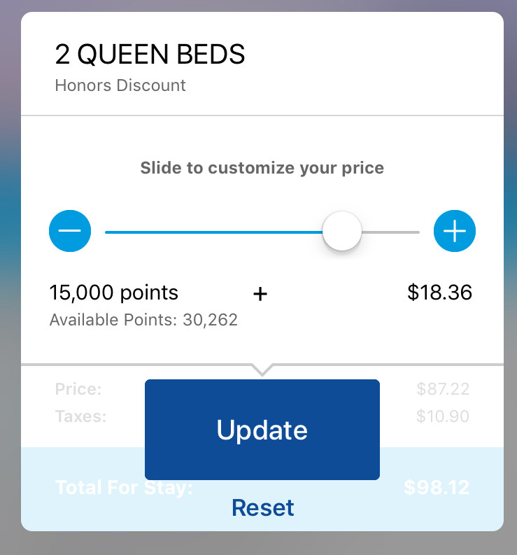 customize your price with your points