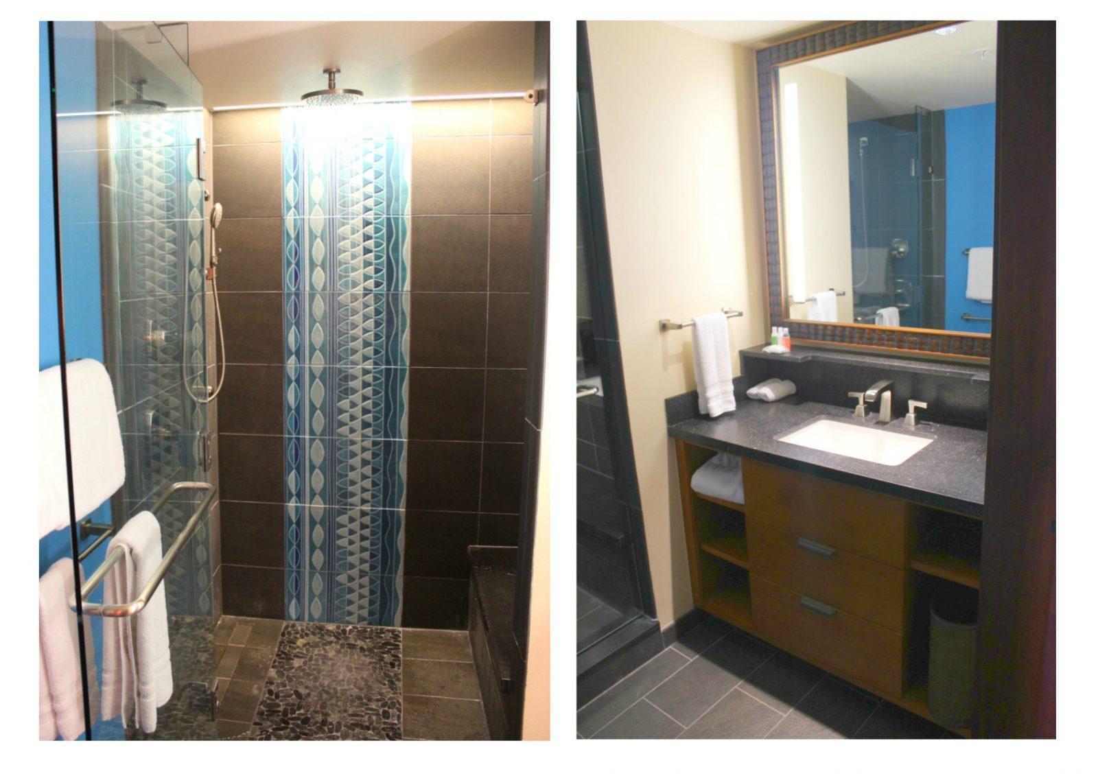 Gorgeous bathrooms at Disney's Polynesian Resort