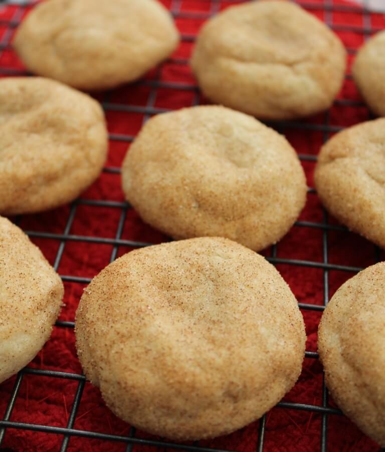 cinnamon and sugar coated Snickerdoodle cookies