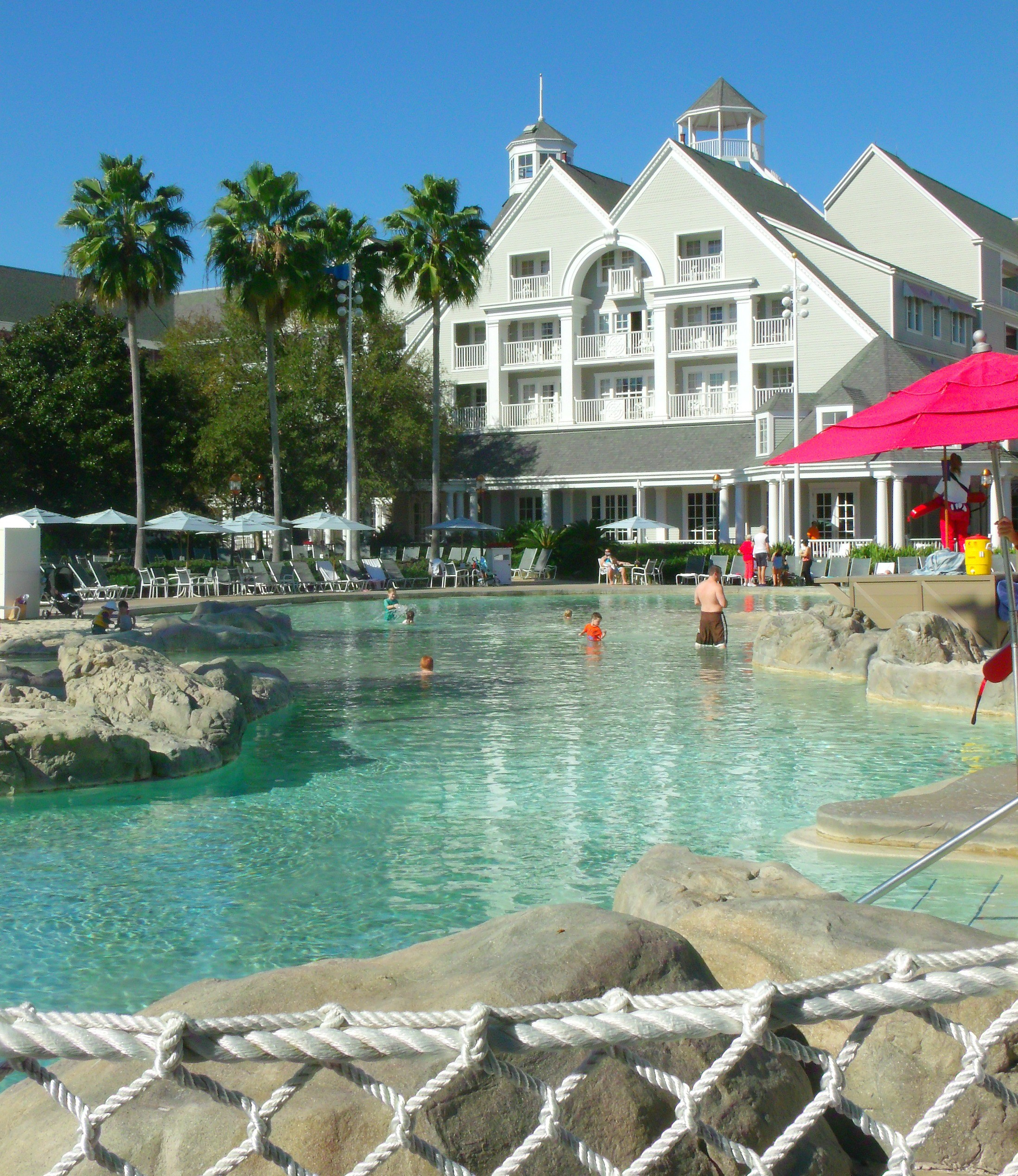 pool area at disney beach club resort