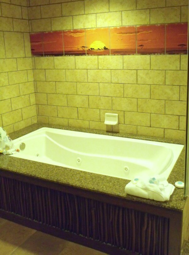 lion king themed bath tub