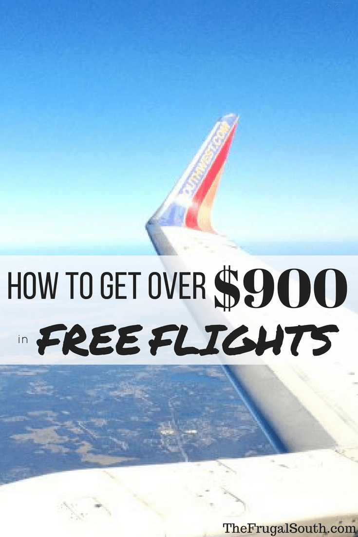 How to Get over $900 in free flights pinterest image