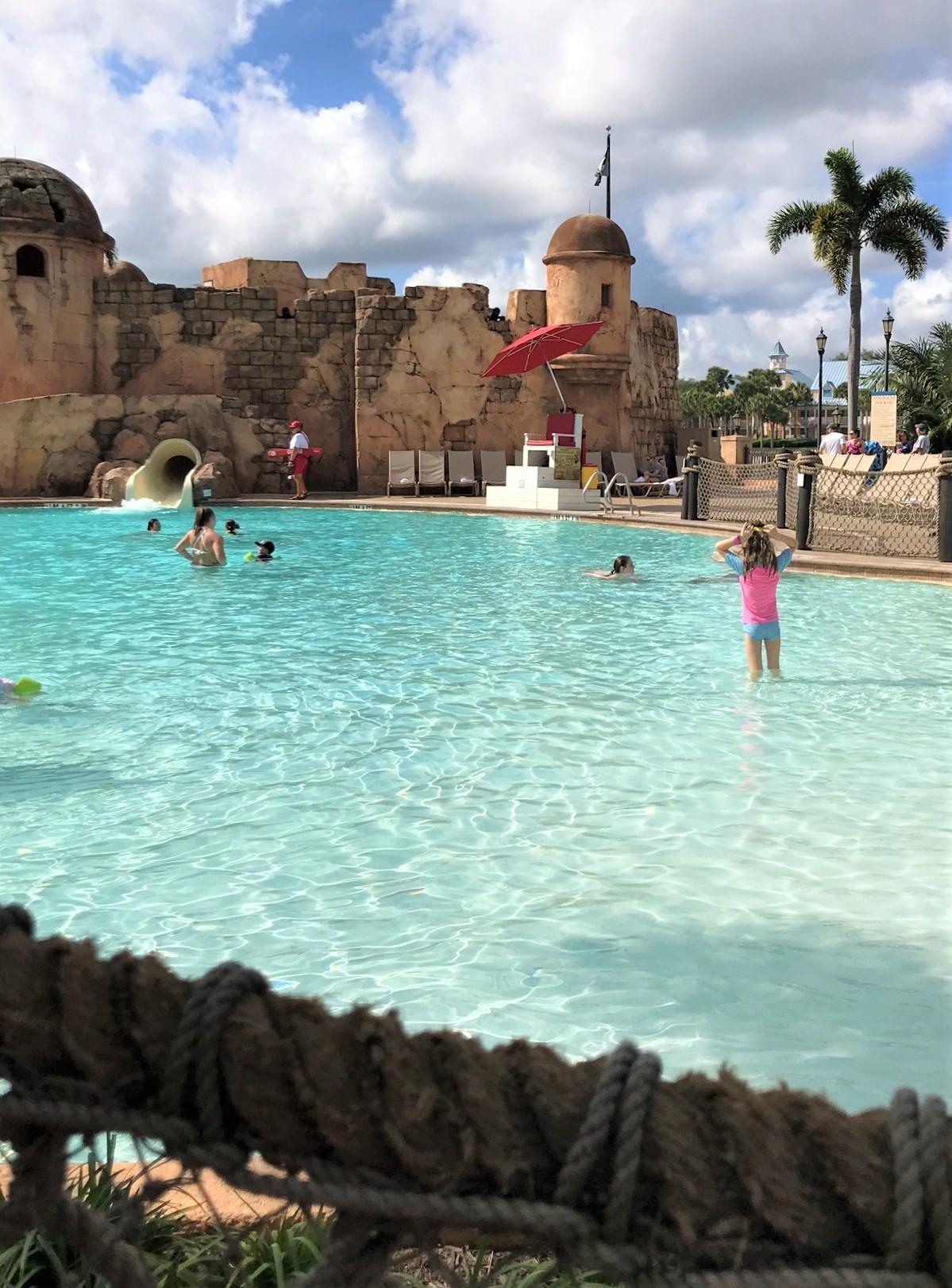 pool at Disney's Caribbean beach resort