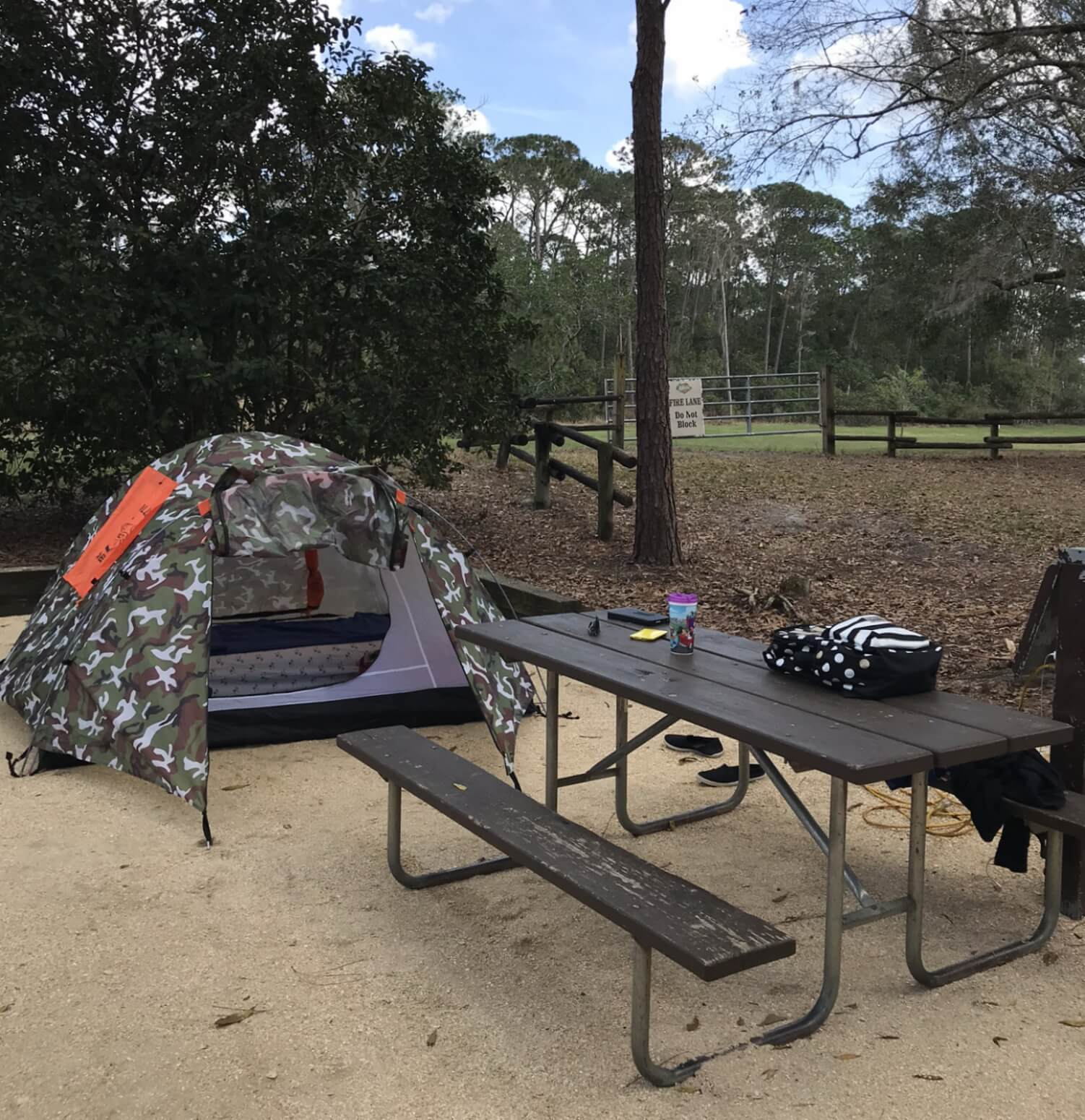 campsite at disney's fort wilderness