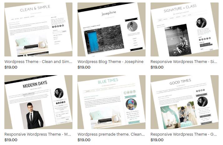 word press blog theme options
