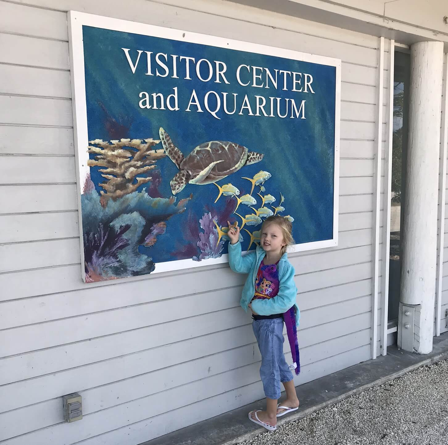visitor center and aquarium