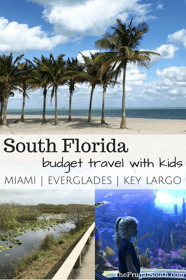 South Florida budget travel with kids pinterest image