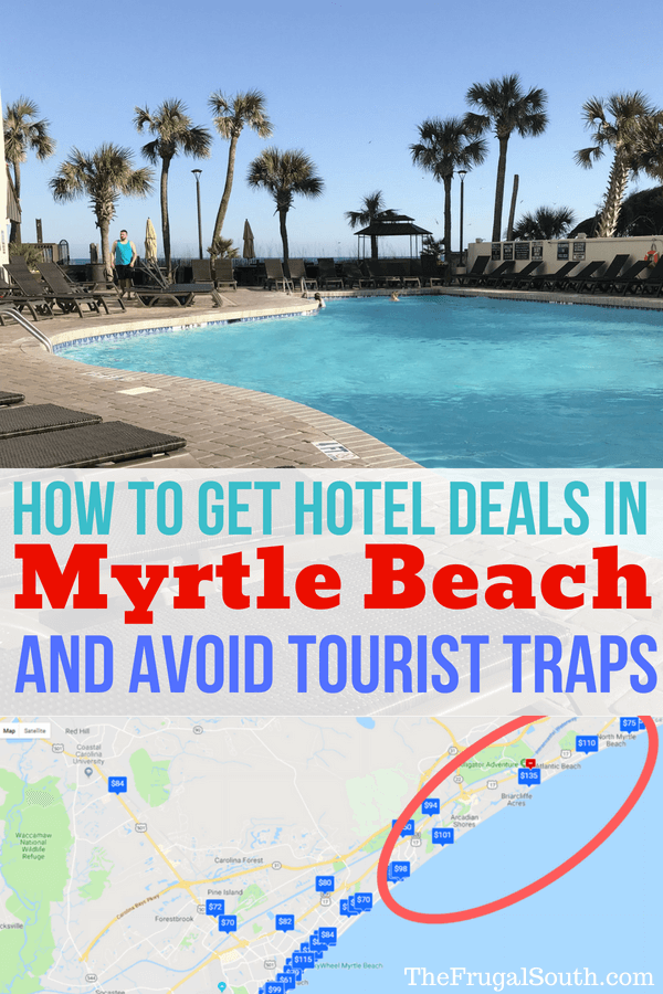How to Get Hotel Deals in Myrtle Beach and Avoid Tourist Traps Pinterest Image