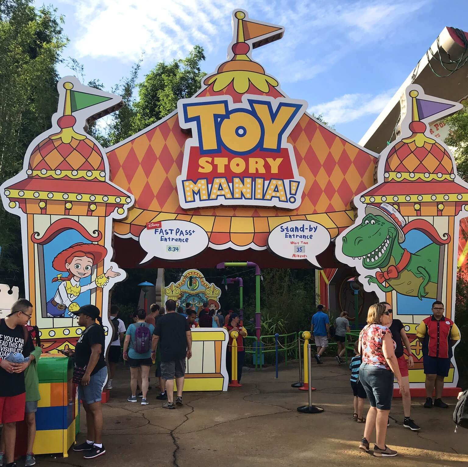entrance to toy story mania ride