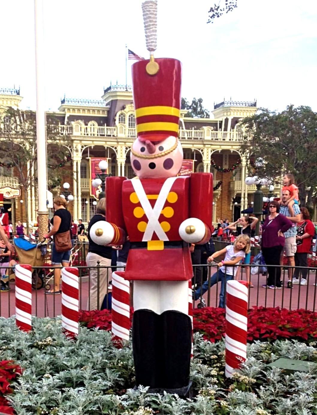 giant nutcracker in magic kingdom